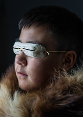 Future's so bright... (Clare Kines Photography) Tags: family portrait canada north arctic travis nunavut parka arcticbay snowgoggles paulcbuffeinstein