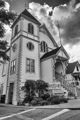 RHM_1913-1444-1445.jpg (RHMImages) Tags: california street blackandwhite bw church monochrome architecture buildings us nikon downtown unitedstates nevadacity historic methodist sierranevada broadstreet d810