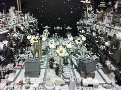 Lego MOC Mini Battle of Yavin aka Death Star Trench (erman_arzk) Tags: starwars lego deathstar turbolaser ywingfighter moc afol battleofyavin starwarsepisode4 lomlug
