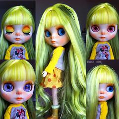 Yellow and Green ( Dulce Tyler ) Tags: fashion hair carved outfit moda dal lips pullip blythe custom takara blythedoll plasticdoll customdoll blythecustom blythehair customcommission dulcetyler