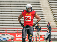Maryland_White_on_Red_20160416_0353.jpg (hillels) Tags: park game college sports field sport photography one football spring team dj outdoor stadium maryland capitol practice terps byrd durkin collegepark testudo byrdstadium terp capitolonefield djdurkin