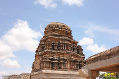 Ornate brick and plaster shikhara (peak or tower) above the sanctum of Ranga (Madhava) Temple, Hampi (Trayaan) Tags: travel india monument temple worldheritagesite historical karnataka hampi vijayanagar incredibleindia vijayanagara vijayanagarastyle indianhistoricalarchitecture karnataempire vijayanagaratemplearchitecture vijayanagaratemplearchitectur