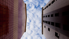 Up (Annenkov.Art) Tags: life city blue sky cloud nature weather office day exterior view angle cloudy outdoor low structure tall residental