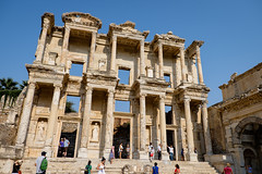 The Main Attraction (_Codename_) Tags: camera jeff architecture turkey library columns cecilia jacquie ephesus libraryofcelsus