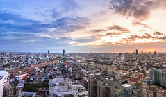 Bangkok View (akimesto) Tags: life street city travel bridge blue light sunset red sky urban panorama cloud sun colour building skyline architecture night clouds zeiss skyscraper photoshop wow landscape thailand twilight highway colorful asia long exposure flickr cityscape nightscape cloudy outdoor bangkok sony air horizon wide culture landmark structure highrise infrastructure land expressway a7 cloudscape skycraper headquarter lightroom