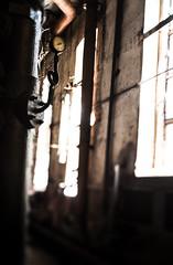 Straight around the corner (think4d) Tags: alt fenster fabrik gang industrie ecke kabel gegenlicht dreck anzeige ausgang balken unschrfe louise3 brikettfabrik domsdorf