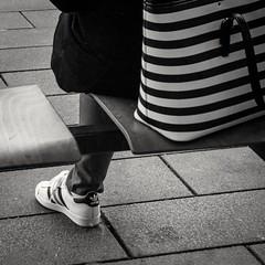 139/366 - Schuhe / Shoes (Boris Thaser) Tags: street city people blackandwhite bw woman project germany bag bayern deutschland bavaria clothing shoes flickr sitting adult candid linie streetphotography scene 11 menschen line clothes explore stop stadt creativecommons photoaday sw 365 frau adidas unposed schuhe projekt augsburg tog haltestelle pictureaday kleidung tasche szene sitzend 366 ungestellt bekleidung schwarzweis project365 strase project366 erwachsener strasenfotografie streettog sonyrx100ii sonydscrx100ii zweisichtde zweisichtig