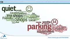 What do you like/dislike about your neighbourhood?  Life in Coventry 2016 survey from the 2015/16 Council Plan end-of-year performance report (July 2016) (Coventry City Council) Tags: councilplan infographics performancereport performance coventrycitycouncil