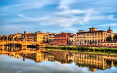 Arno River Florence (beelzebub2011) Tags: longexposure italy florence tuscany hdr arnoriver pontesantatrinita highdynamicresolution 10stopnd