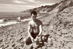 Sacred Cove (#9) (dksmediasolutions) Tags: ocean ca wild portrait usa male beach nature photography losangeles model photographer natural masculine creation hollywood dreams dreamscape onset selfdiscovery ranchopalosverdes artisticportrait abalonecoveshorelinepark davidksmith shawndean