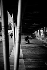 Under the bridge (tomabenz) Tags: street urban blackandwhite bw paris monochrome noiretblanc streetphotography streetview streetshot sonya7rm2 a7rm2