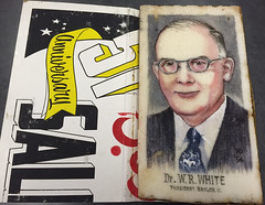 Sugar portrait of Baylor President W.R. White, 1956 (The Texas Collection, Baylor University) Tags: wrwhite bayloruniversity sugarbowl portrait artifact