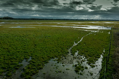 Marshlands (tabulator_1) Tags: england green landscapes southport darkclouds marshside