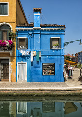 Little Blue House (mindweld) Tags: blue italy burano littlebluehouse