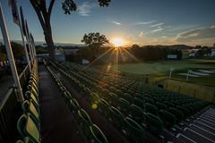 2016 U.S. Open - Grandstand Sunset (brerwolfe) Tags: sunset sky sun pittsburgh pennsylvania seat bluesky usga seats lensflare bleachers starburst clearsky settingsun usopen oakmont 18thhole 2016 grandstands hole18 no18 oakmontcountryclub