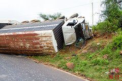 Truck Rollover (DragonSpeed) Tags: africa tanzania safari arusha truckrollover vehicleaccident tzday02 africanwildcatsexpeditions