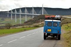 The elegant bridge of Millau [France] (babakotoeu) Tags: car jeep offroad 4x4 toyota land series 40 landcruiser cruiser troopy bj40 40series bj45