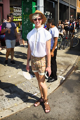 094A8676 v2 (Wheels Down) Tags: cute feet smile hat sunglasses tattoo pose legs sandals adorable streetphotography pride shades twink blond shorts nosering shortshorts braclet gaypride2016