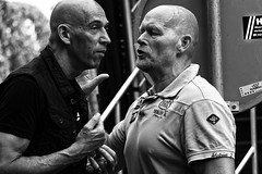 2 Of A Kind In Expressive Conversation (Alfred Grupstra Photography) Tags: street people blackandwhite bw man hoorn nederland streetphotography streetlife nl noordholland hoornsestadsfeesten