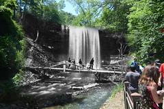 Minnehaha Falls 1860s-2010s (Fritillaria1) Tags: history historical antique collage rephotography minnehaha minnesota minneapolis waterfall creek bridge