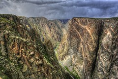 Black Canyon o/t Gunnison NP (Rik Tiggelhoven Travel Photography) Tags: park travel usa cloud black nature canon landscape photography colorado cloudy nps outdoor canyon national service np hdr rik gunnison 6d ef1740mmf4lusm tiggelhoven