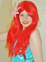 Ariel! (Elysia in Wonderland) Tags: little mermaid ariel disney cosplay costume princess blue dress red wig flounder fish marvellous events princessing