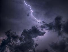 blow! (pascal.dickhoff) Tags: lightning thunderstorm thunderstorms light contrast cloud clouds night strike striking blitz lilac violet dark darkness gods hard boom bolt