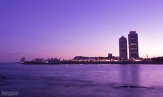 Atardecer en el Port Olmpic (Judit Guijarro) Tags: playa platja pink violet port olmpic barcelona bcn catalunya espaa spain photo photography fotografia nikon nikond3100 d3100 nikonistas sunset atardecer rosa violeta colores ocean ocano agua water mar mediterrneo mediterrani