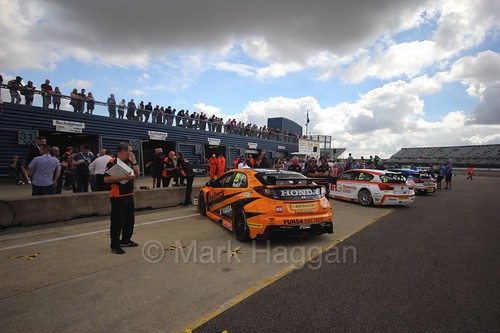 Cars Lined up at Rockingham, August 2016