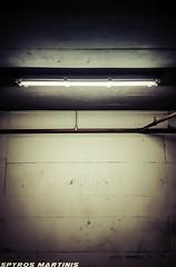 Down Below... (Spyros Martinis) Tags: greece athens   samsung note4 down below sandisk basement parking wall light concrete cement steel red grey black lines lightroom lamp athensvoice athensvibe lifo 500px instagram gloom greecelovergr flickr