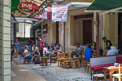 Tea Break at Back Street, Istanbul (danliecheng) Tags: bbq beyoglu istanbul turkey alley backstreet burger chat dining eat editorial food lunch rest restaurant shade shop sit stools suger summer tables talk tea teabreak travel visit visitors