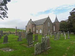 Old Parish Kirk, Cruden Bay, Aberdeenshire, Oct 2016 (allanmaciver) Tags: cruden bay church kirk trees turret castle windows graveyard stones old shadows afternoon east coast aberdeenshire scotland allanmaciver