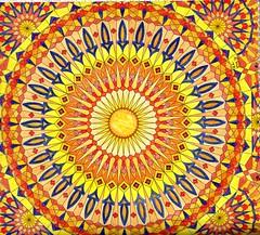 Mosaic Patterns - 014 (ronniesz) Tags: adultcoloring mosaic patterns derwentinktensepencils prismacolorpencils mandela doodles art penandink finelinecoloredpens visualarts linedrawing