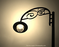Bumping into another Lamp Post (Florries Angel) Tags: lamp post mono monotone sepia curls curl light bulb lightbulb