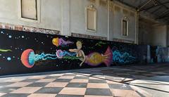 She's A Rainbow (COOL PIX maf) Tags: asburyparknj graffiti mermaid decay