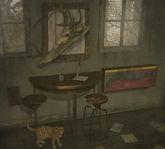..::THOR::.. The Winchester Hideout Set - To my Mainstore NOW! (andraus thor) Tags: winchester supernatural horror zombie rifle table stool revolver cat beer deer trophy hunter hunting knife polaroid refurbished old vintage wood furniture pose snimation 3d secondlife metaverse shabby