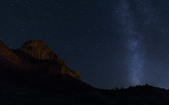 The Watchman and The Milky Way (josh riggs) Tags: nature utah zion zionnationalpark nationalparks fujifilmxe1 fujixe1