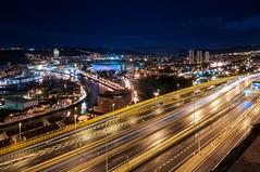 Bilbao City (BIZKAIA) (Jonatan Alonso) Tags: city noche bilbao autopista nervion iberdrola sanmames riabilbao
