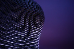 Selfridges (NickNeuenhaus) Tags: lighting city uk blue light sunset england sky man colour detail reflection texture architecture modern night contrast speed silver dark insect landscape photography dawn lights mirror evening town big amazing birmingham nikon warm exposure raw dof view purple dusk vibrant quality centre young warmth like atmosphere file iso made compression ornament selfridges age shutter unknown mysterious ornate jpeg viewpoint iconic hue tone vibrance extravagant d7000 iphoneography
