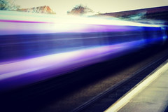 Station To Station (47/52) (eskayfoto) Tags: blue motion blur speed train vintage manchester lumix moving high movement blurry exposure track purple cheshire jennifer fast rail railway trains move panasonic railwaystation trainstation stockport photooftheweek railways trainspotting highspeed 52 week47 2014 stationtostation 4752 heatonchapel project52 lx3 heatonchapelrailwaystation ipiccy project5247 vintagejennifereffect vintagejennifer 52weeksthe2014edition week472014 weekstartingwednesdaynovember192014