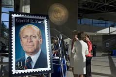 "Gerald R. Ford Commemorative Stamp Unveiling Ceremony • <a style=""font-size:0.8em;"" href=""http://www.flickr.com/photos/55149102@N08/15370938273/"" target=""_blank"">View on Flickr</a>"