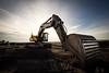 After work (bernd obervossbeck) Tags: volvo site wideangle baustelle ruhrgebiet buildingsite digger excavator bagger weitwinkel haldehoheward canonefs1022 canoneos60d