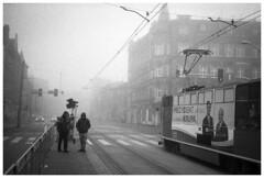 *** (Spartaxus) Tags: street bw fog analog hp5 katowice ilford silesia