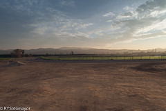 fenced~ (ysella) Tags: sunset site construction fenced