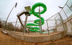 Spiral slide (severalsnakes) Tags: public pentax slide fisheye swimmingpool missouri centennialpark sedalia k30 rokinon835