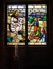 Paschal Candle (PhotosbyDi) Tags: church window candle stainedglasswindow shepparton leadlight staugustines paschalcandle hww windowwednesday