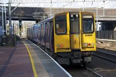 313028 Departs Alexandra Palace (TheJRB) Tags: uk england london station electric train transport rail railway trains alexandrapalace rails emu gn pep aap gtr unit 313 brel greatnorthern electricmultipleunit class313 313028 goviathameslinkrailway 2v59
