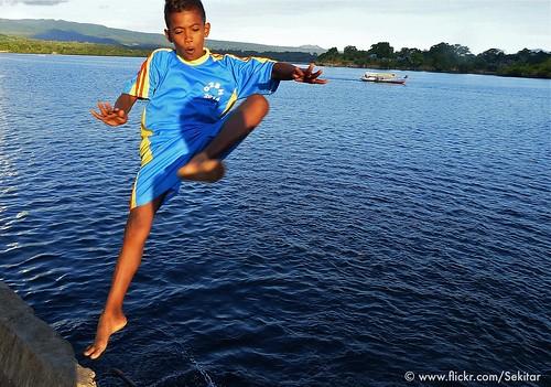 Water games at Pelabuhan Baranusa, Pantar NTT Indonesia
