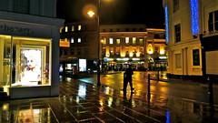A rainy night in Cheltenham...1 (MickyFlick) Tags: england wet shop bar night reflections restaurant pub europe streetlights gloucestershire advertisement nightlife cheltenham towncentre publichouse rainynight thebankhouse mickyflick