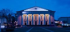 town hall / rotus Vilnius, Lithuania (leonlagben) Tags: night town hall lithuania vilnius lithuanie flickrtravelaward rotus